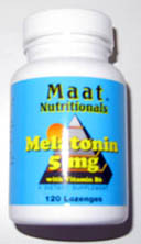 Melatonina Maat Sublingual 5 mg con vitamina B6.
