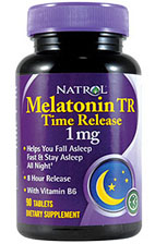 Melatonina Retard Natrol TR Time Release.